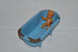 Lampart zománcos mini babakád babával  ( DBZ 0093 )