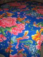 Csodaszép vintage rózsa és madár mintás hatalmas pihe-puha szőttes terítő futó