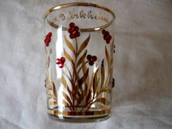 Antik Bad Dürkheim dúsan aranyozott gyöngyös kúra pohár