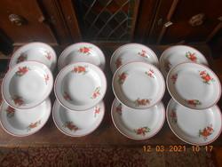 Zsolnay Mikulásvirág mintás tányér készlet