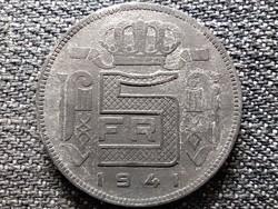 Belgium III. Lipót (1934-1951) 5 Frank holland szöveg 1941 (id44076)