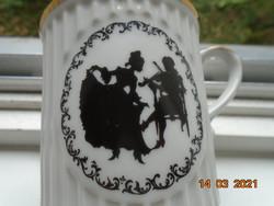 Eichwald Teplic Dubi Barokk árnyképes bordázott bögre