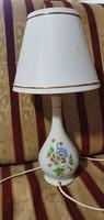 Hollóházi porcelán éjjeli lámpa