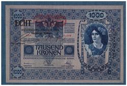 1000 Korona 1902 Deutschösterreich+ECHT bélyegzés RITKA