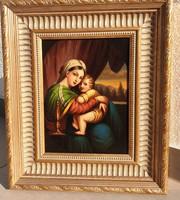 RAFFAELO -Madonna gyerekkel másolat 1900 elötti-