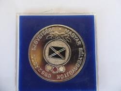 Magyar Bélyeggyűjtők Országos Szövetsége jubileumi fém emlékérem