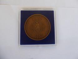 Bizományi Áruház Vállalat 40 év év forduló, bronz emlékérem Bognár György
