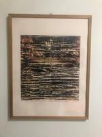 Joseph Kadar, KÁDÁR JÓZSEF művészneve Le K'dar festő, grafikus, (1936-2019) Szitanyomat