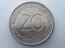 Szlovénia 20 Tolár 2003 - Szlovén 20 tolarjev, tolar 2003 küföldi pénz, érme