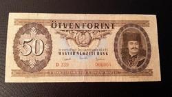 50 forintos Rákosi címeres  papír pénz