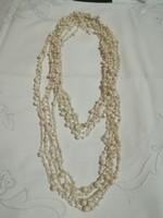 Horgolt, gyöngyös hosszú  nyaklánc.130 cm.