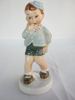 Royal Dux Deutschland porcelán kisfiú