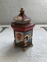 Győnyőrű  Japán Satsuma porcelán teafű tartó