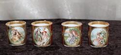 Royal Vienna aranyozott barokk kávéspohár 4 db