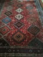 310 x 210 cm kézi csomozasu antik Yalameh szőnyeg eladó