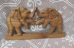 Gyönyörű fából elefánt elefántok fa elefánt disz  ,Gyűjtői darab