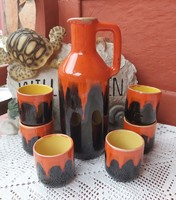 Beautiful pond wine set glasses cups collectible pieces, nostalgia,