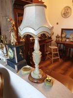 Alabástrom asztali lámpa szettben