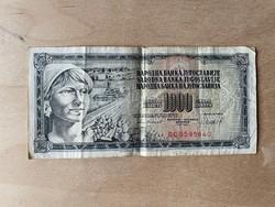 Jugoszláv dinár papírpénz 1981