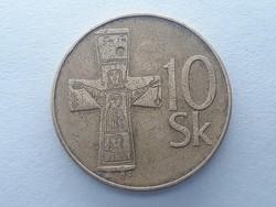 Szlovákia 10 Korona 1993 - Szlovák, Slovenska Republika 10 korun külföldi pénz, érme