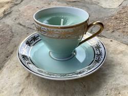 Mentazöld Martinroda porcelán illatgyertya kávéscsésze és alj