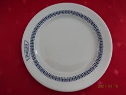 Alföldi porcelán, kék mintás süteményes tányér, UTASELLÁTÓ felirattal.