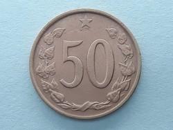 Csehszlovákia 50 Heller 1969 - Csehszlovák 50 Hellers (haler) külföldi pénz, érme