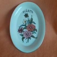 Retro! Rarity! Raven house porcelain, flower pattern plate, bowl, bowl