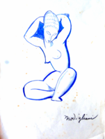 Modigliani tanulmányrajz