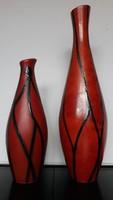 2 db retro Tófej kerámia váza