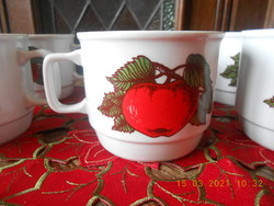 Zsolnay alma mintás bögre készlet 6 db
