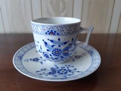 Herendi XIX.sz kék Waldstein mintás. teáscsésze aljával, Fischer Tata
