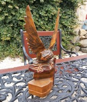 Fából Gyönyörű fa sas madár Gyűjtői darab  Faragott szépség