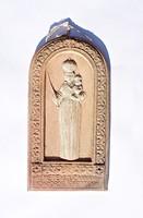 Dr. Rank Rezső kerámia vallási témájú falikép
