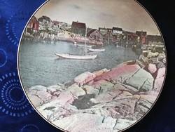 Eladó régi porcelán angol Royal Doulton hajós dísztányér!