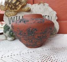 Gyönyörű  12 cm magas duci váza ,retro szépség, nosztalgia