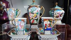 High quality Herend Persian mocha set - 2 személyes Herendi porcelán Perzsa készlet
