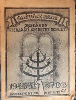 AZ ÁHÁVÁSZ RÉIM ORSZ. FELEBARÁTI SZERETET EGYLET ZSEBNAPTÁRA   1945 - 46  -  JUDAIKA