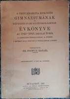 A PESTI IZRAELITA HITKÖZSÉG GIMNÁZIUMÁNAK ÉVKÖNYVE 1942  -  1943  -  JUDAIKA