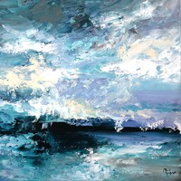 """""""Clouds"""" 50x50cm painting, direct from the artist!"""