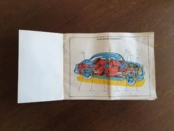 Régi retro autó műszaki leírás személygépkocsi tehergépkocsi 50 es 60 as évek