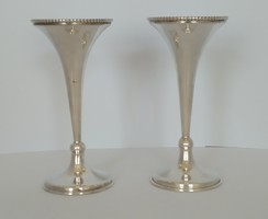Ezüst ibolya váza párban