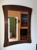 szecessziós tükör  132 x 100 cm