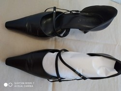 Fekete, alkalmi női bőrcipő