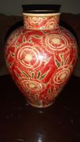 Antik zsolnay korpecsetes váza