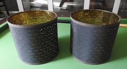 Modern fekete réz / fém lámpabura - bura