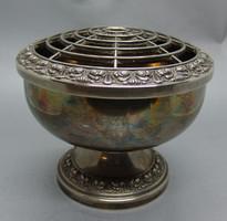 B304 Ezüstözött virágtartó Silver plated ianthe of England  - hibátlan gyűjtői darab