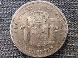 Spanyolország XIII. Alfonz (1886-1931) .900 ezüst 5 Peseta 1888 (id46855)