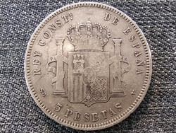 Spanyolország XIII. Alfonz (1886-1931) .900 ezüst 5 Peseta 1898 (id46854)