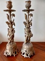 Nő és férfi alakos gyertyatartó párban.27 cm